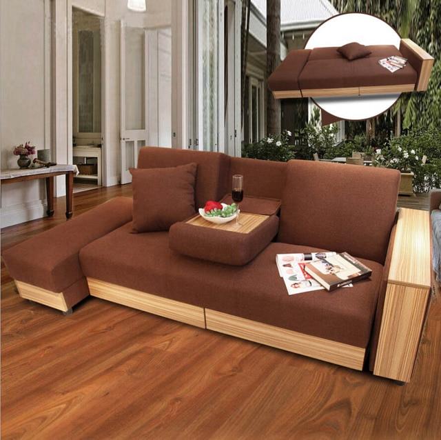 Sofabett holz  Webetop Moderne Luxus Sofa bett multifunktions Hause Möbel ...