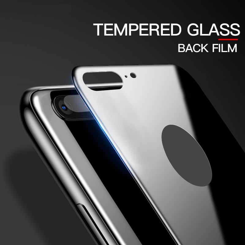 9H 2.5D Rear Back Tempered Glass Screen Protector For iPhone 7 8 Plus 8Plus SE 2020 X XS XR 11 Pro MAX Full Cover Black White 1