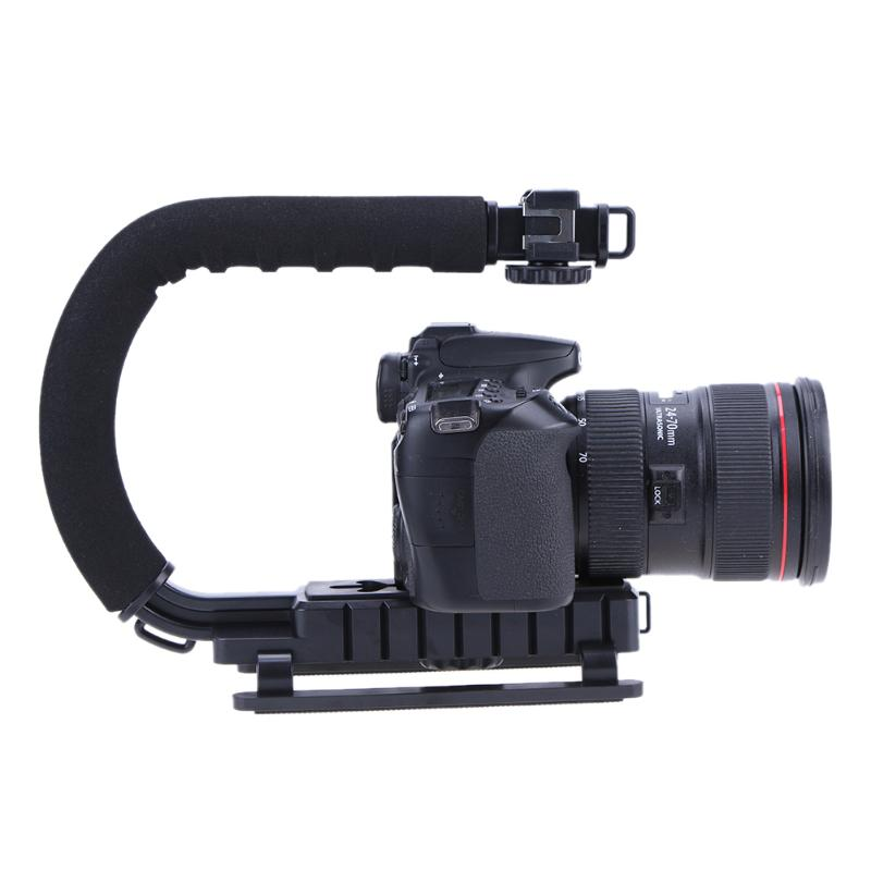 U-Grip Triple Shoe Mount Video Action Stabilizers Handle Grip Rig for Canon Sony DSLR Camera for iPhone 7 plus Gopro Smartphone meike dslr camera built in 2 4g battery grip for canon eos 7d mark ii as bg e16