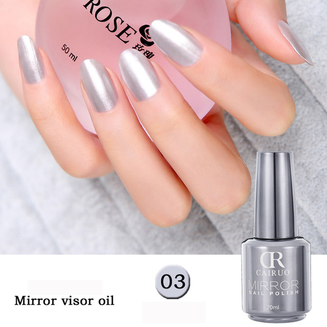 Mirror Metallic Bling Gel Nail Polish Nails Paint Uv Poly Rose Gold Soak Shiny