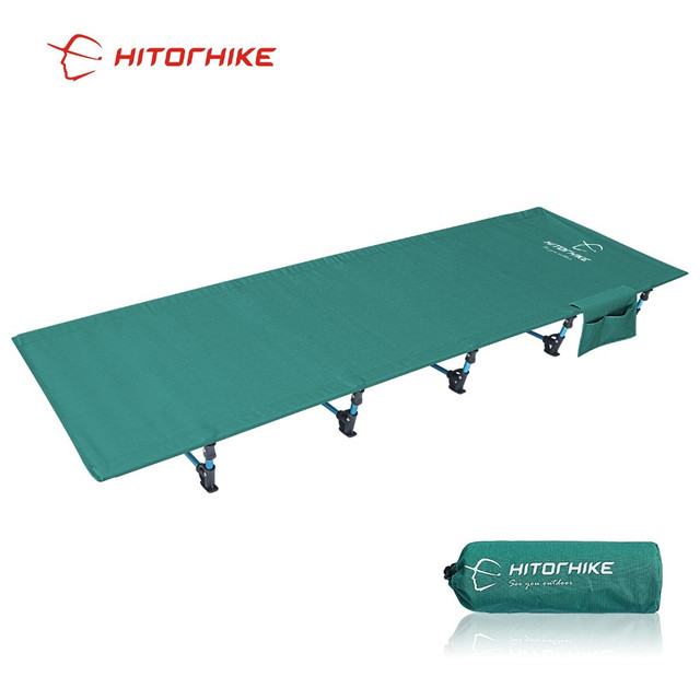 Hitorhike Camping Cot Compact Folding Cot Bed for Outdoor Backpacking Camping Cot Bed  Ultralight Folding Tent 1