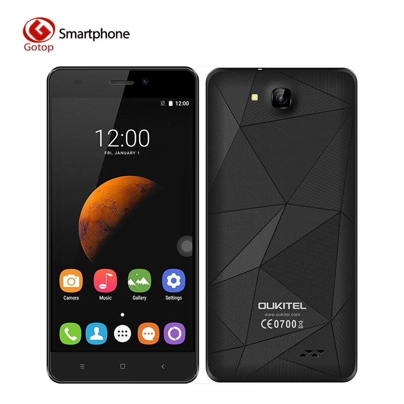 Оригинальный OUKITEL C3 5.0 Дюйма HD Экран Смартфон Android 6.0 MTK6580A Четырехъядерный Процессор Мобильный Телефон 1 ГБ ОЗУ + 8 ГБ ПЗУ 2000 мАч Мобильный Телефон купить на AliExpress