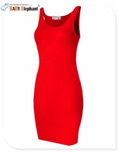 Slim Style Round Neck Long Sexy Dress Spaghetti StrapSlim Sheath Packege Hips Vintage Trendy Women Femme 4 Color Plus Size001151