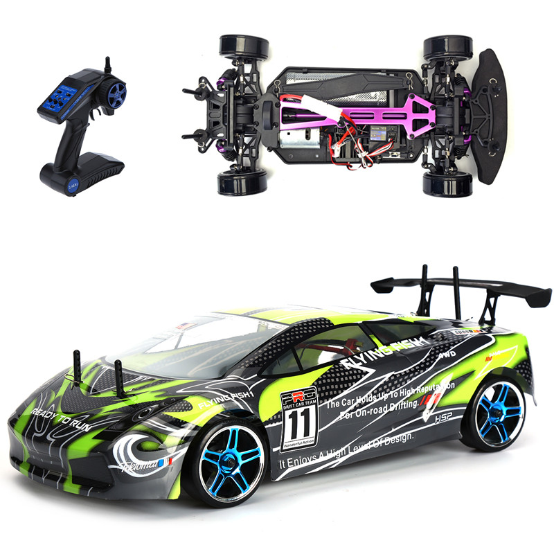 hsp rc drift car 4wd 1 10 scale electric power on road. Black Bedroom Furniture Sets. Home Design Ideas