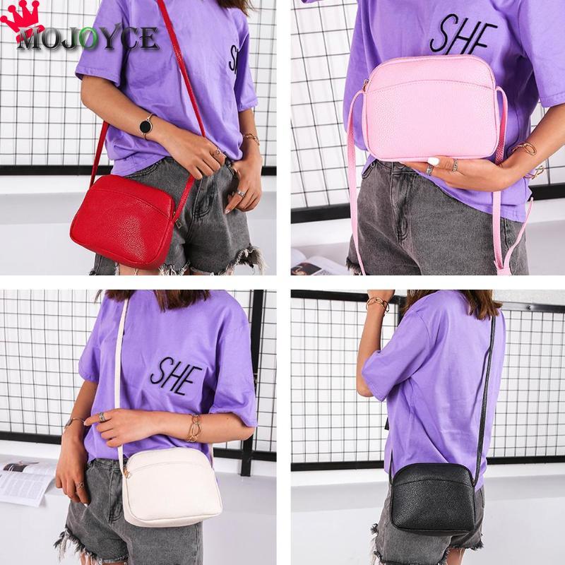 Women PU Leather Messenger Handbags Shell Shoulder Crossbody Bag Solid Small Bags for Women 2020 Sac a Main Ladies Hand Bag 2
