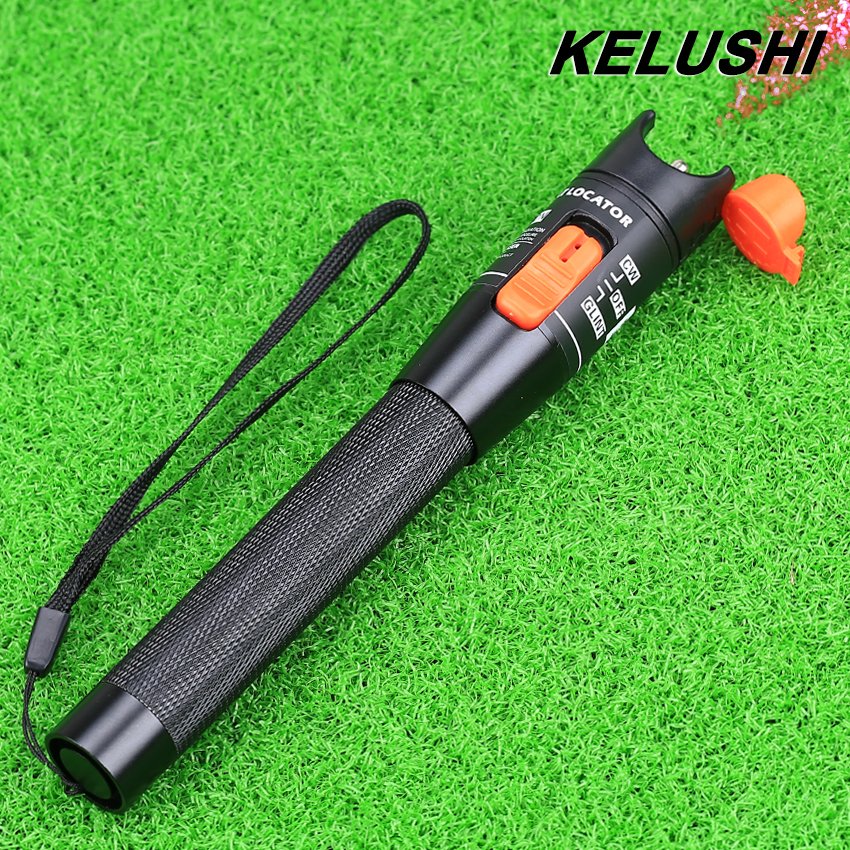 KELUSHI 10mw Fiber Optical Cable Tester Red Light Source visual Fault Locator Testing Tool with 2
