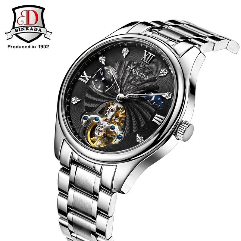 BINKADA Relojes Mecánicos Automáticos Hombres Acero Inoxidable - Relojes para hombres - foto 2