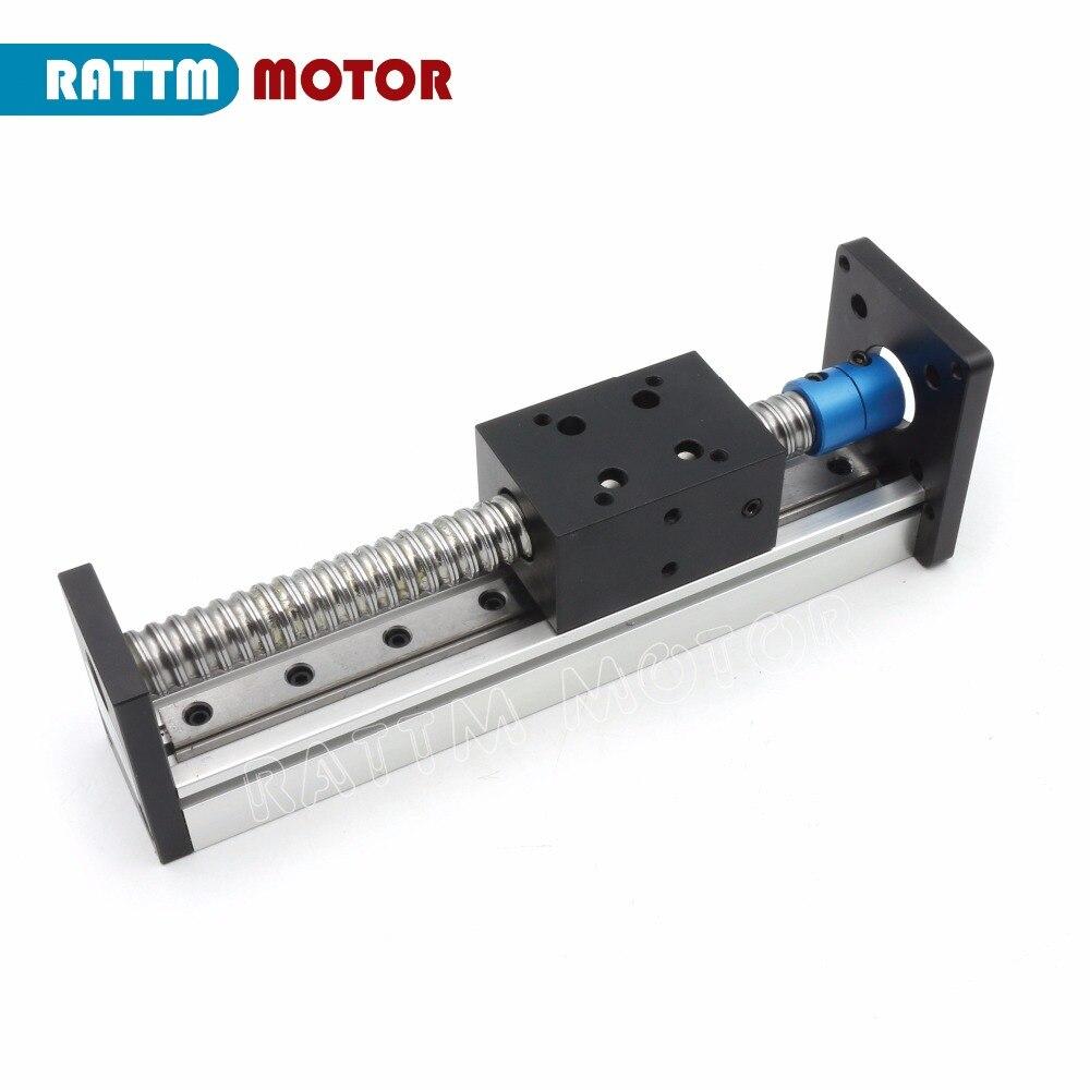 CBX1605 husillo de bolas lineal etapa actuador 100/200/300/400/500/600mm y cuadrado lineal riel + Nema23 Motor paso a paso para CNC XYZ eje - 3