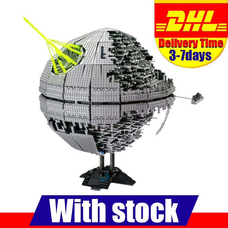 MOC LEPIN 05026 3449Pcs Star War Death Star II Model Building Kits Blocks Bricks Compatible Chilsren Toys Gift With 10143 lepin 22001 pirate ship imperial warships model building block briks toys gift 1717pcs compatible legoed 10210