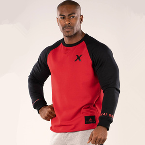 Image 1 - 春の新メンズ綿のスウェットプルオーバーカジュアルファッションパッチワークパーカージムフィットネスワークアウトトップス男性スポーツウェア服