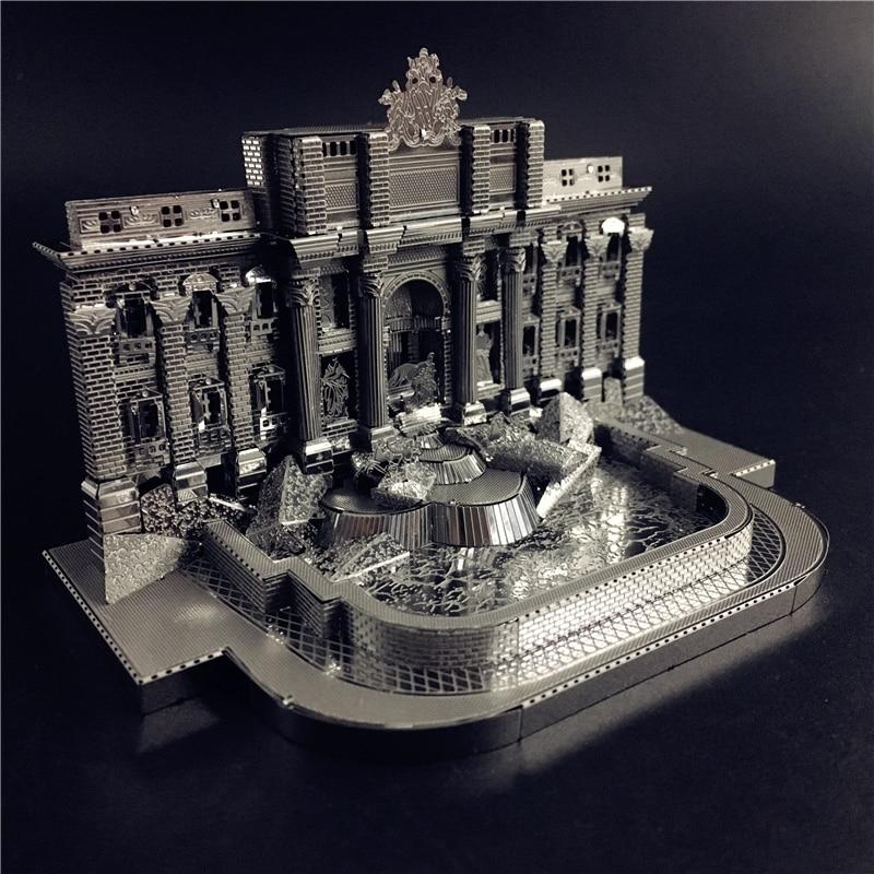 MMZ MODEL NANYUAN 3D Metal Model Kit Trevi Fountain Building Assembly Model DIY 3D Laser Cut Model Puzzle Toys For Adult
