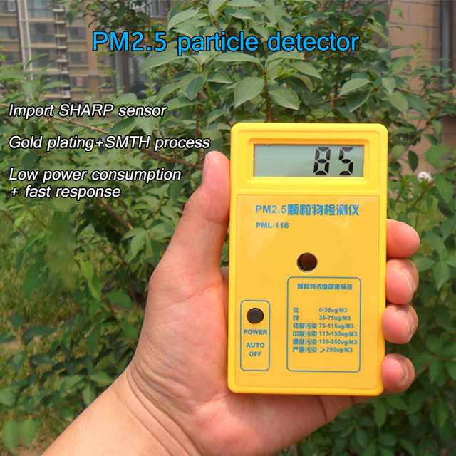 PM2.5 Detector Air Quality Monitor Particle Dust Air Tester Protection Sensitive Sensor Accurate Rapid Reaction PM 2.5 Analyzer