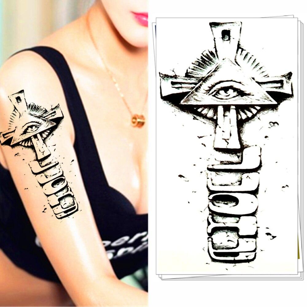 Tribal-Tattoos 25-font-b-Tribal-b-font-Style-Temporary-font-b-Tattoo-b-font-Body-Art-Illuminati