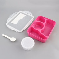 Modern Ecofriendly Portable Lunch Box Portable Outdoor Camping Picnic Food Container Storage Box With Spoon 220