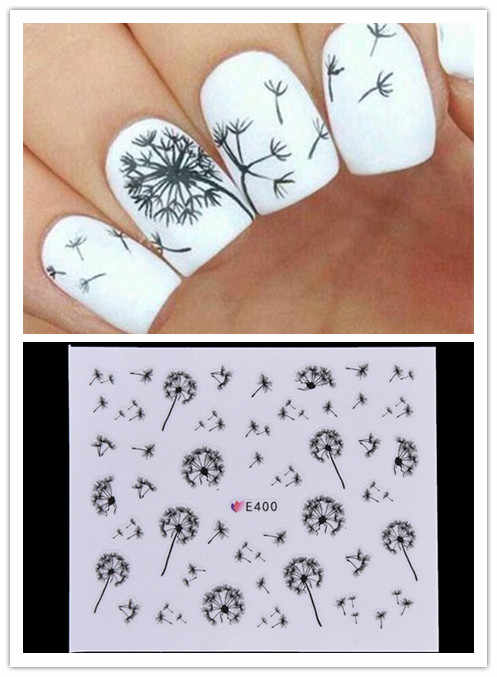 Vliegende Paardebloem Nail Sticker Water Decals Transfer Sticker Nail Art