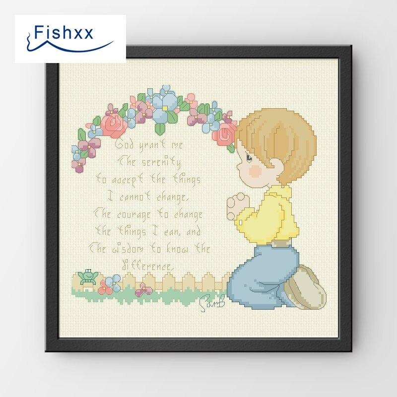 Fishxx cross stitch 14CT kit estilo europeo dormitorio de los niños ...