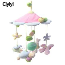 Cute Cartoon Animal & Flower Baby Crib Rattle Newborn Infant Bed Haning Stroller Jouet Children Activity Rasa Tidur Toy Hadiah