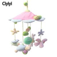 Cute Cartoon Animal&Flower Baby Crib Rattle Newborn Infant Bed Haning Stroller Jouet Children Activity Appeased Bedtime Toy Gift