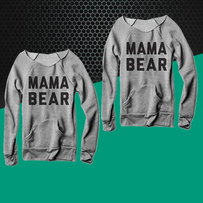 33ae79425 Women Female T Shirts Tops Fashion Girls Long Sleeves Letters Mama Bear  Printing O Neck Tee T Shirt Top Harajuku Tumblr-in T-Shirts from Women's  Clothing on ...