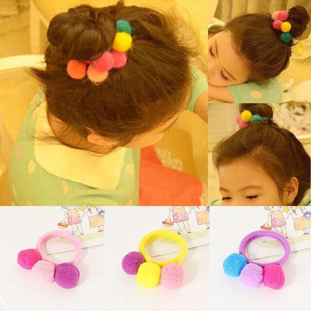 1 PC Lovely Fashion Crianças Meninas Delicado Colorido Elástico de Cabelo Cabelo Corda Banda Acessórios Para o Cabelo