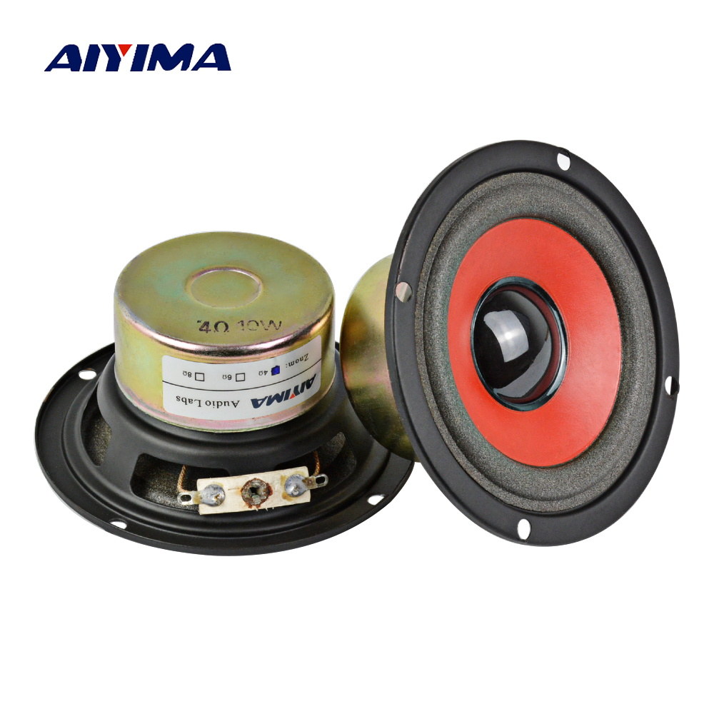 3Inch Audio Portable Speakers 4Ohm 10W Full Range Speaker Anti-Magnetic Red Edge Basin DIY For Home Theater