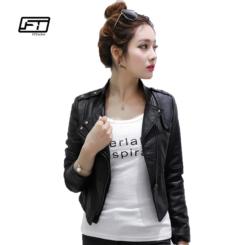 New Women Autumn Winter Pu   Leather   Jacket Short Design Coat Motorcycle Women Faux Soft   Leather   Jackets Outerwear