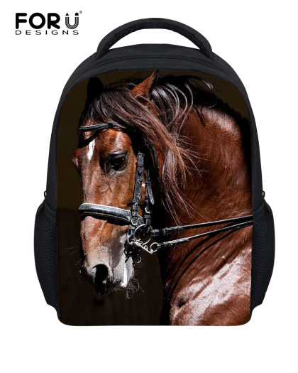 Small 12inch Children School Bag 3D Animal Mini Horse Cat Print Girls Schoolbag Cute Chi ...