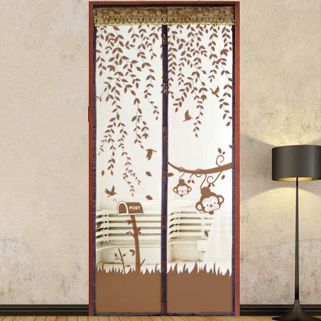 hot selling prevent mosquito magnet mesh modern door window curtains for living room cortina puerta