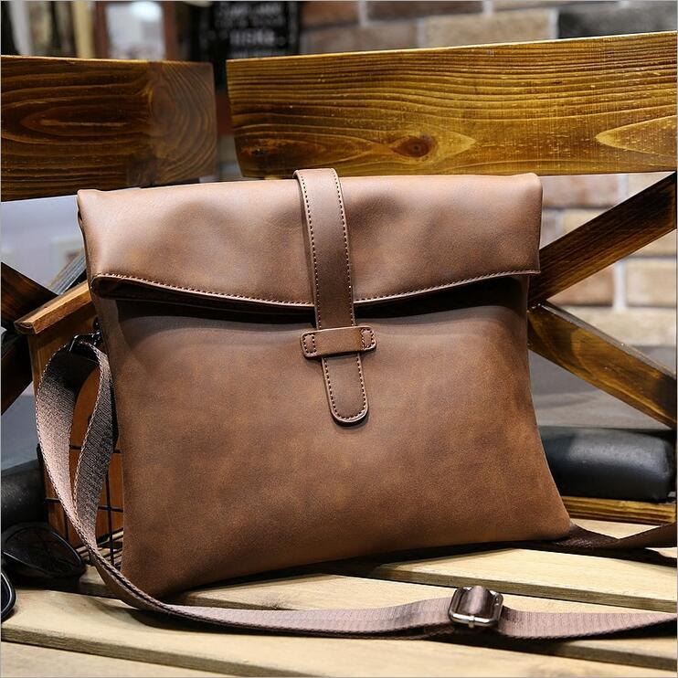 Crazy Horse Leathe Ipad Bagsr Men's Briefcase Men's Messenger Bag Men Leather Shoulder Bag