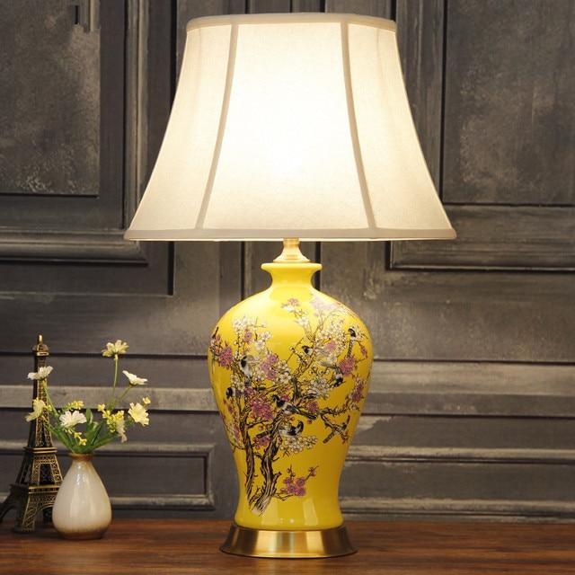 China Antique Living Room Vintage Table Lamp Porcelain Ceramic ...
