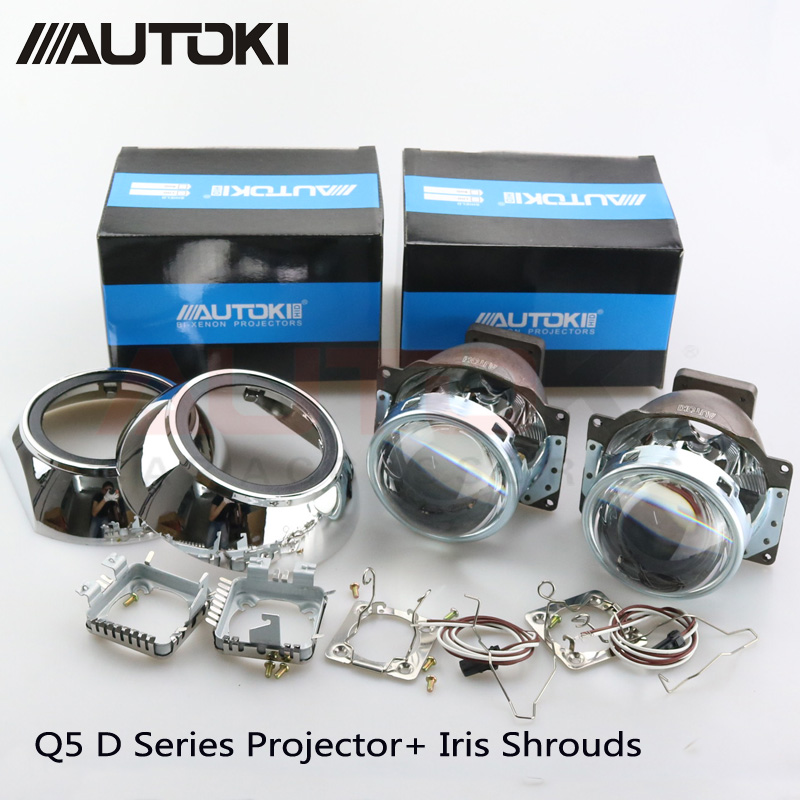 Free Shipping Autoki Automobiles Koito Q5 Projector Lens for Headlight 3 0inch HID Bi xenon Lamp