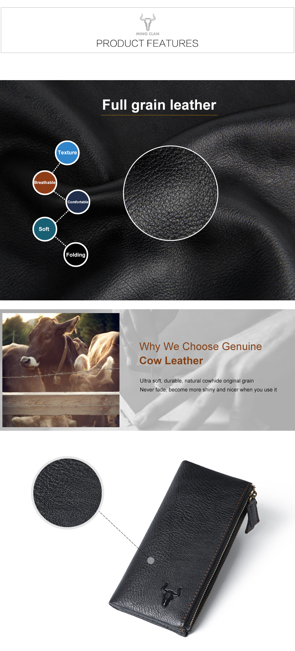 Cheap leather wallet for women