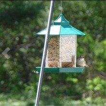 Зеленый павильон кормушка для птиц с присоской подвесной птичий домик для улицы горячая распродажа