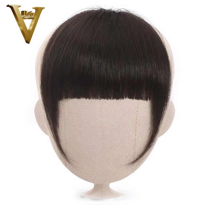 Brazilian Straight 100% Human Hair Bangs For Women Remy Clip In Fringe Hair Extension Natural Black Free Shipping(China)