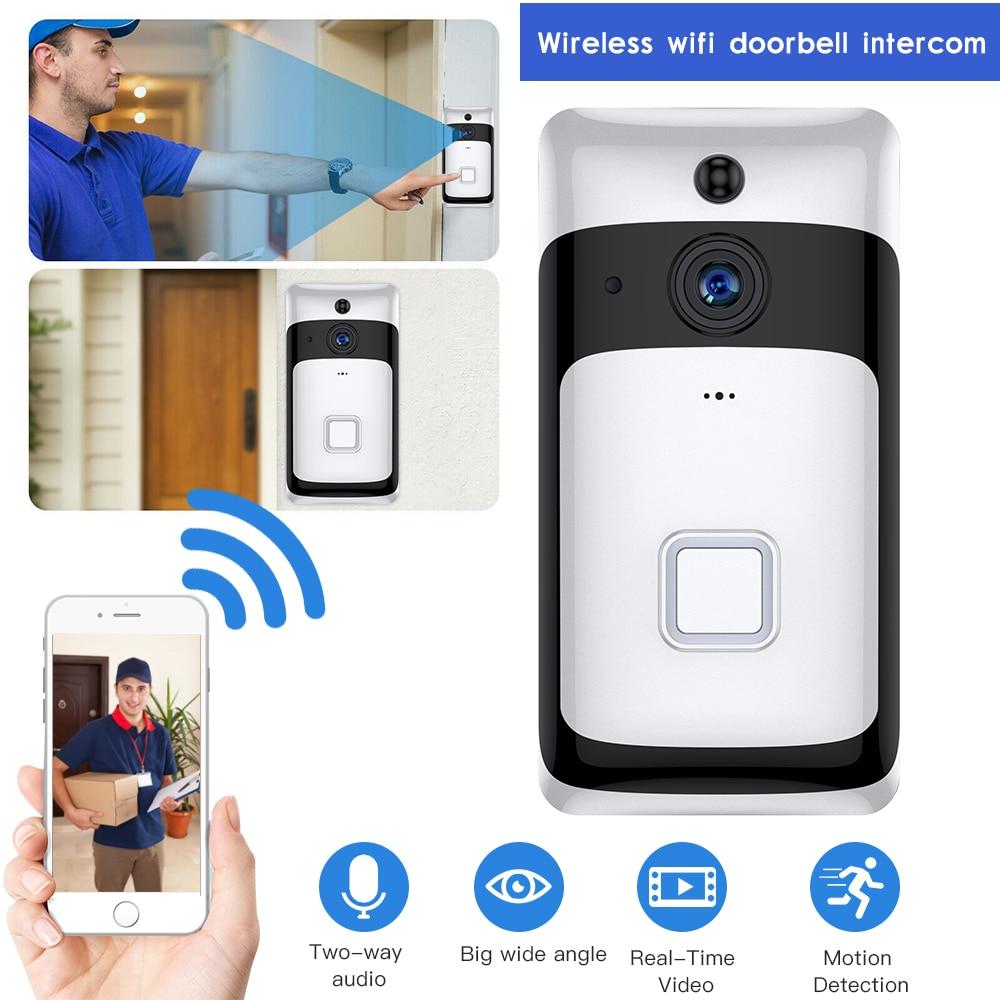 SDETER Wireelss IP Wifi Doorbell Video Intercom Video Door Bell WIFI Camera Night Vision PIR Alarm Cloud Android IOS Door Bell
