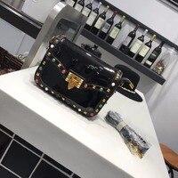 Vendita calda di Nuovo Modo di Diamante della Pelle Verniciata Colore Rivetti Messenger Bag Piccola Crossbody Borse Per Le Donne Sacchetti di Spalla di Alta Qualità