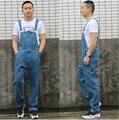 Geral Jeans Denim Macacão Jardineiras Calças de Brim Dos Homens 2016 Nova Chegada de Moda Frete Grátis Tamanho Grande 28-42