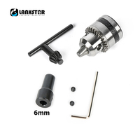 New B10 Taper Chuck with 6mm Steel Connector Rod Motor Shaft for Mini Electric Motor Drill Chucks Cap 0.6~6mm Mount Press Tools