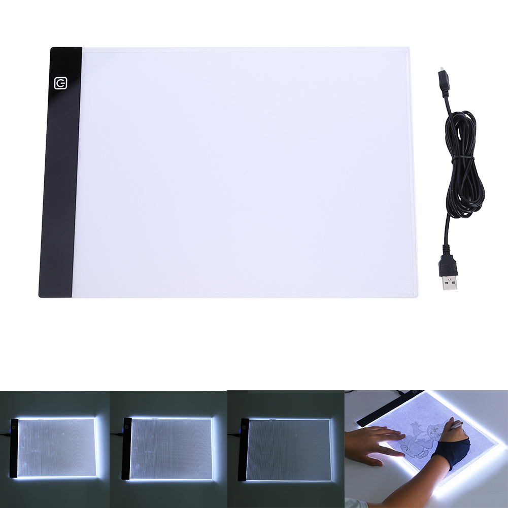 Digital Tablets LED Graphic Artist Thin Art Stencil Painting Drawing Board Light Box Tracing Table Pad Three-level Toys Gifts