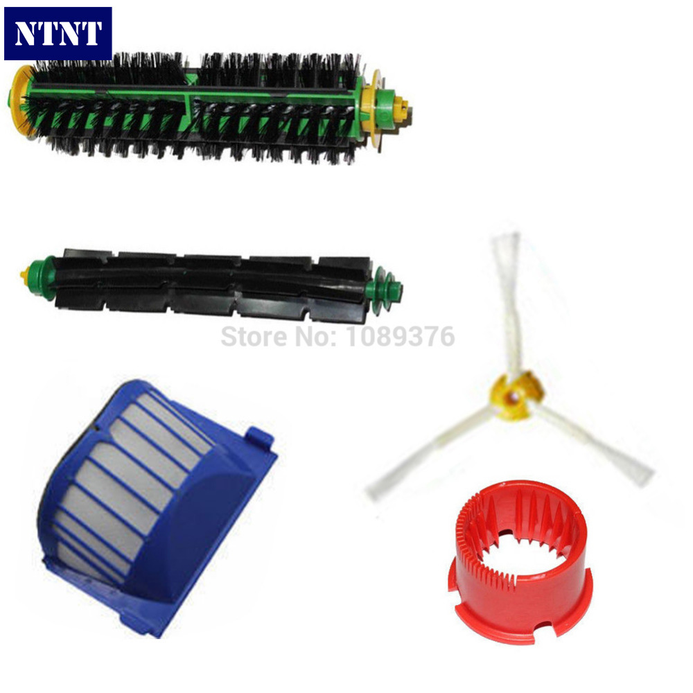 NTNT Free Post New Brush & Aero Vac Filter Cleaning Tool Kit for iRobot Roomba 500 Series 3 Armed vacuum cleaning kit attachement kit dusting dusting brush nozzle crevices tool upholster tool for 32mm