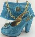2017 de La Moda de Zapatos Italianos Con Bolsos A Juego Zapatos de Alta Calidad Zapatos de Boda Africano Y la Bolsa A Juego ME3315