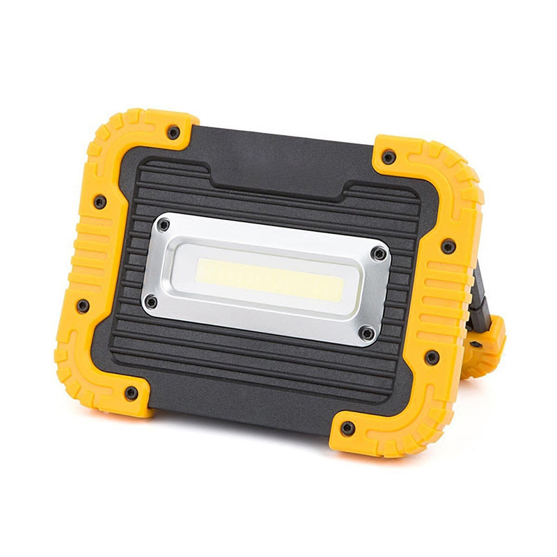 50W COB LED Work Light Rechargeable Spotlight Portable LED Floodlight with Stand