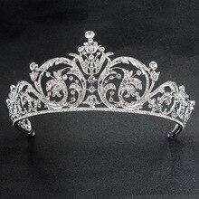 Классические Стразы с кристаллами 2/3, круглая свадебная тиара, корона, диадема, женские аксессуары для волос, ювелирные изделия XBY158L