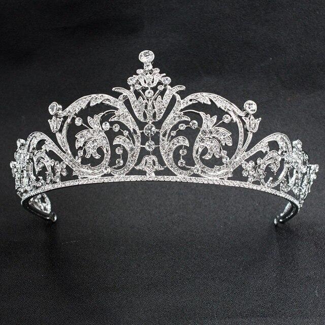 Klasik taklidi kristal 2/3 yuvarlak düğün gelin tacı taç Diadem kadınlar saç aksesuarları takı XBY158L