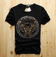 도매 남성 럭셔리 다이아몬드 디자인 Tshirt 패션 티셔츠 남성 재미 t 셔츠 브랜드 코튼 탑 티 패션 디자인 DS887
