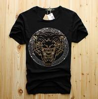 Tshirt dos homens por atacado diamante de luxo design de moda camisetas homens camisas engraçadas de t tops e t-shirt de algodão marca moda design DS887