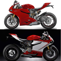 Plans à personnaliser Pour Ducati 1199 2012-2014 moulage par injection Plastique ABS carénage Kit Carrosserie Moto