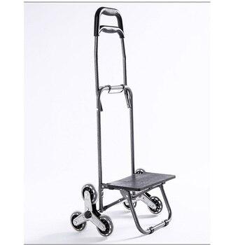 Sacs De Caddie | Trois Roues Escalier Femme Panier échelle Panier Grande Capacité Chariot Portable étanche Sacs à Provisions