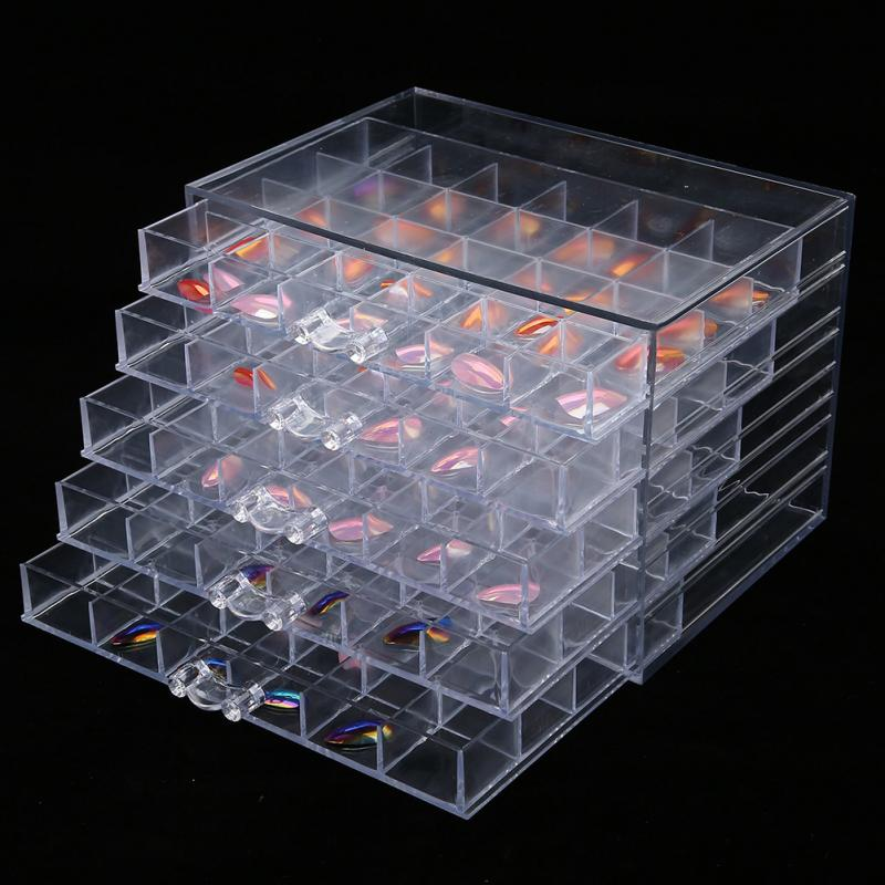 120 Slots Nail Art Decoration Storage Case Box Nail Glitter Rhinestone Beads Accessories Container Nail Tool