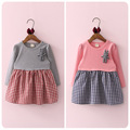 2016 Autumn Korean New Pattern Girl Children's Garment Split Joint Skirt Pendulum Sleeve Girl Baby A Doll Skirt Jacket Skirt